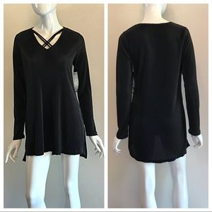 Ruff Hewn Grey Midnight Black Top Tunic